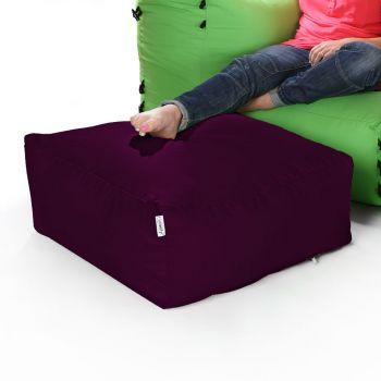 Modular Corner Sofa Aubergine Bean bags - Pouffe Only