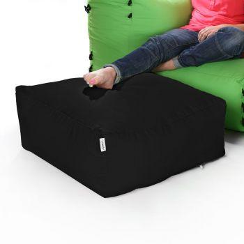 Modular Corner Sofa Black Bean bags - Pouffe Only