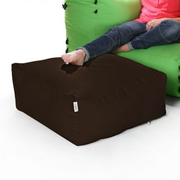 Modular Corner Sofa Brown Bean bags - Pouffe Only