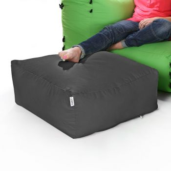 Modular Corner Sofa Grey Bean bags - Pouffe Only
