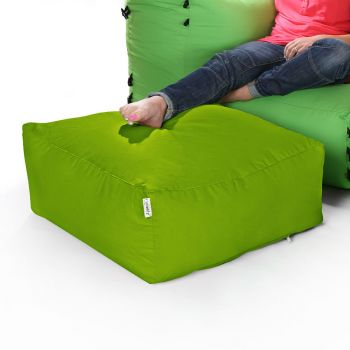 Modular Corner Sofa Olive Green Bean bags - Pouffe Only