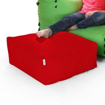 Modular Corner Sofa Red Bean bags - Pouffe Only