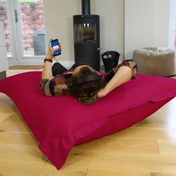 Cerise Pink Giant Squarbie Bean Bag