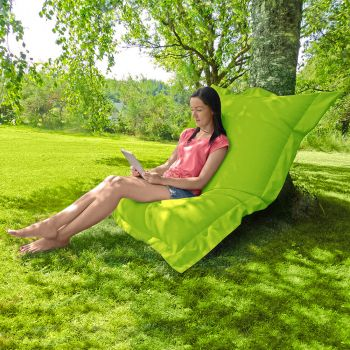 Indoor/Outdoor Squashy Squarbie© Giant Outdoor Lime Green Beanbags