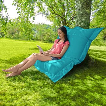 Indoor/Outdoor Squashy Squarbie© Giant Outdoor Turquoise Beanbags
