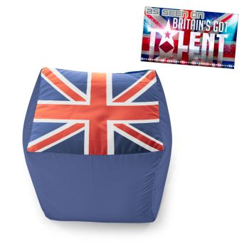 Union Jack 40cm Cube Bean Bag