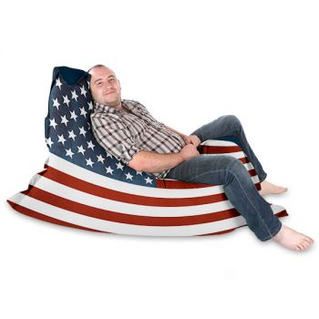 Patriot USA Flag Squashy Squarbie© Beanbag Adult Bean Bag