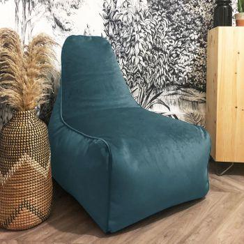 Velvet Raja Bean bag Chair in Teal