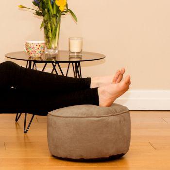 Mink Velvet Bigger Better Footstool Beanbag
