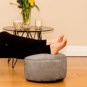 Pebble Velvet Bigger Better Footstool Beanbag