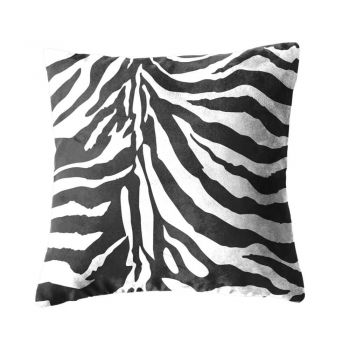 Faux Suede Zebra Print Cushion