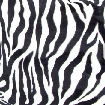 Faux Fur Zebra Fabric