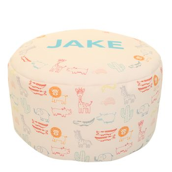 Zoo Animals Kids Beanbag Stool