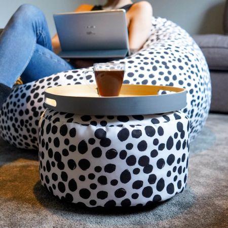 Dalmatian Print Beanbag Footstool