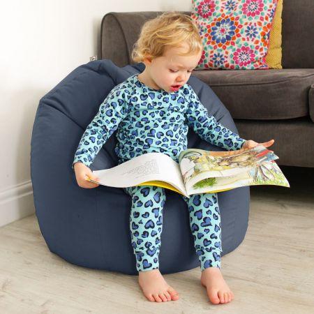 Kids Classic Beanbag - Cotton - Denim Blue 1
