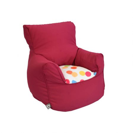 Toddler Chair- Trend - Cerise Pink With Spotty Seat