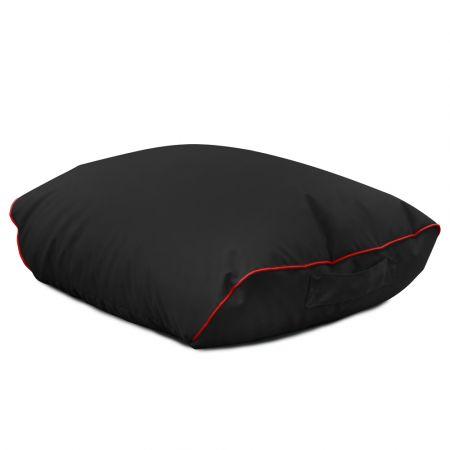 Black rugame Gamer Bean Bag Footstool - Red