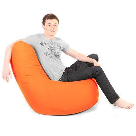 Bean Bag Pod Chair - Indoor/Outdoor - Orange