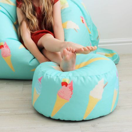 Ice Cream Kids Bean Bag Stool