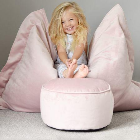 Pink Velvet Kids Stool