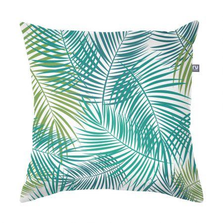 Green Tropical Leaf Cushion - Indoor/Outdoor