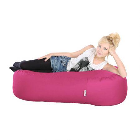 4ft Ottoman Bean Bag - Indoor / Outdoor - Cerise Pink