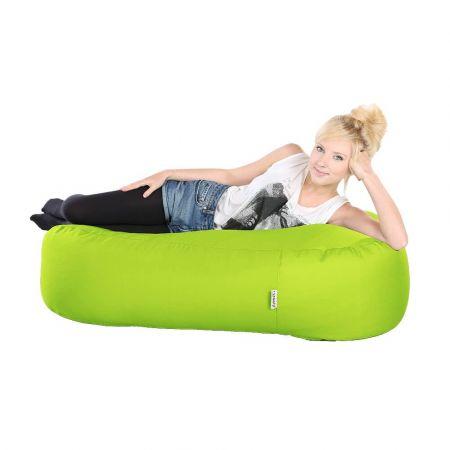 4ft Ottoman Bean Bag - Indoor / Outdoor - Lime Green