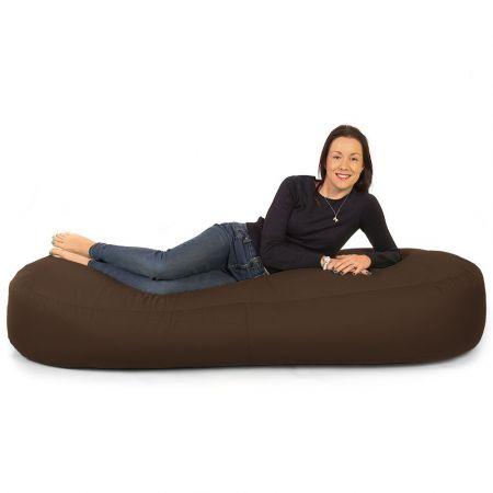 6ft Bean Bag Lounger - Indoor / Outdoor - Brown