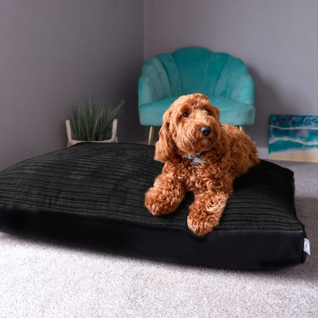 Pet Bed - Jumbo Cord Medium Black