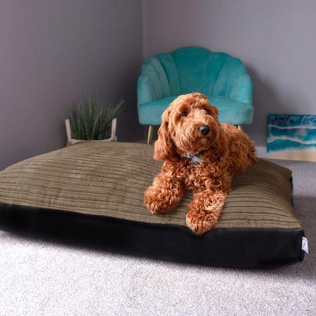 Pet Bed - Jumbo Cord Medium Mocha