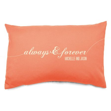 Personalised Always and Forever Cushion Front View