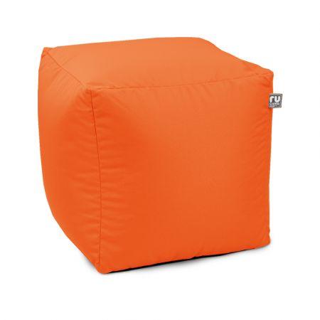 Trend Cube Footstool - Orange