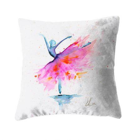 Ballerina Firefly Cushion - Faux Suede