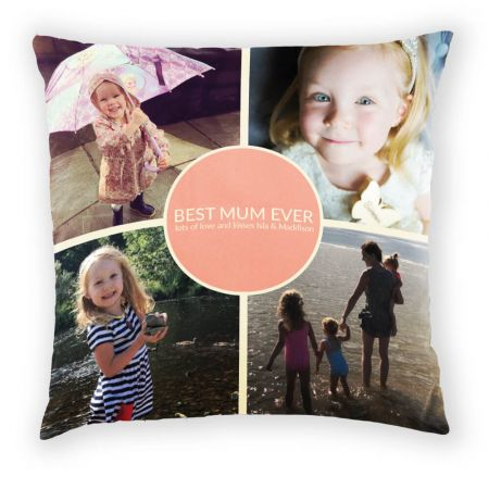 Best Mum Ever Photo Cushion Front View