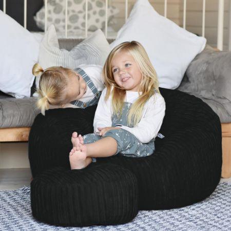 Mini-Slouch Bean Bag - Jumbo Cord - Black