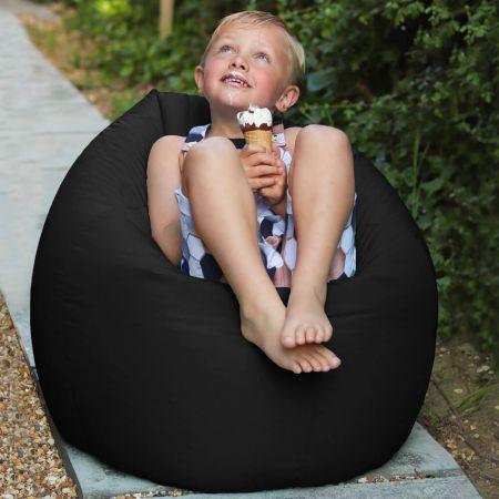 Black Indoor/Outdoor Kids Classic Beanbag
