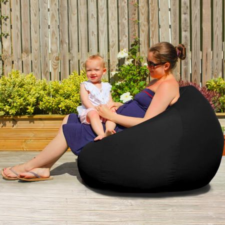 Slouchbag Indoor/Outdoor Beanbag in Black