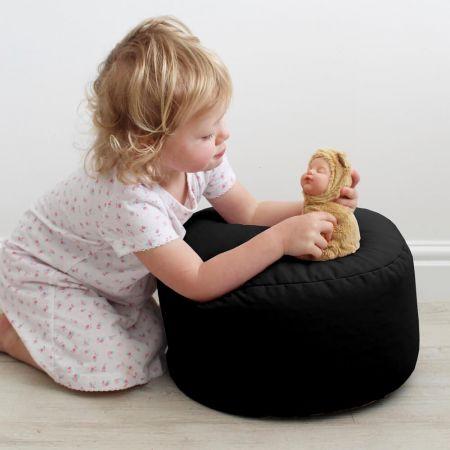 Black Kids Bean Stool - Indoor/Outdoor