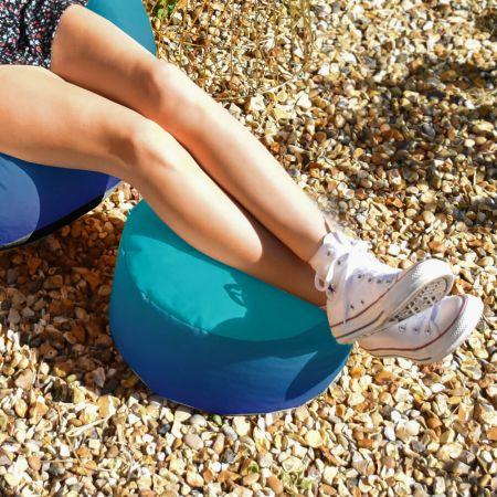 Blue Gradient Footstool - Indoor/Outdoor