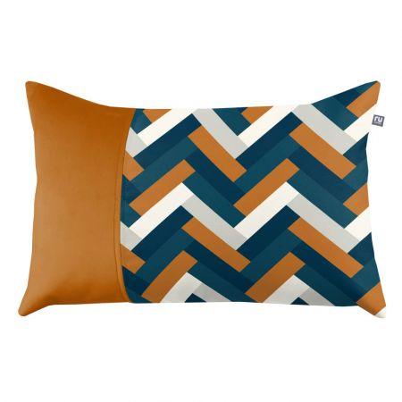Herringbone Cushion - Burnt Orange