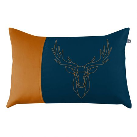 Stag Cushion - Navy