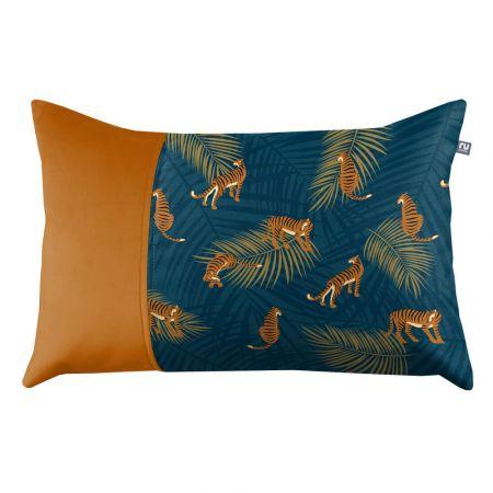 Tiger Cushion - Burnt Orange