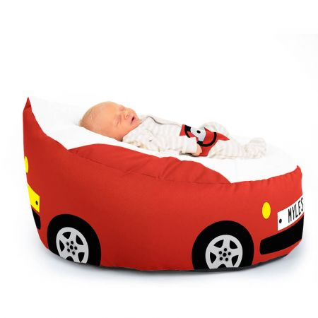 Luxury Cuddle Soft Car Gaga© Baby Bean bags In Red Incline