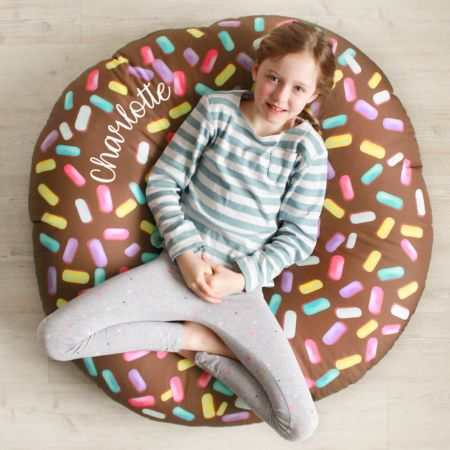 Kids Indoor/Outdoor Chocolate Donut Beanbag