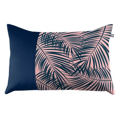 Tropical Leaf Cushion - Peacock