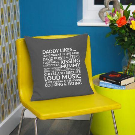 Daddy Likes Cushion