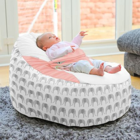 Elephant Gaga Plus Baby to Junior Beanbag Main Image Coral