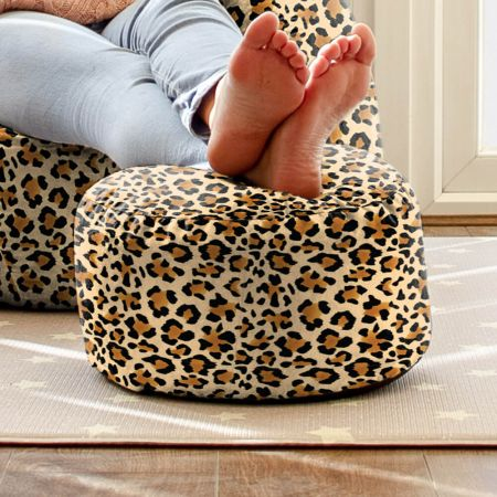 Animal Print Footstool