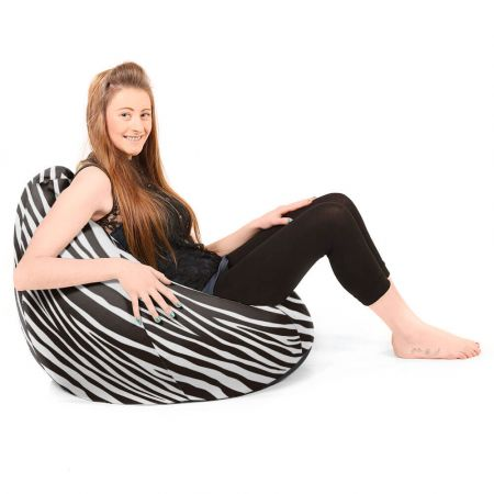 Faux Suede Zebra Print Large Classic