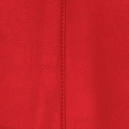 Faux Leather Red Fabric
